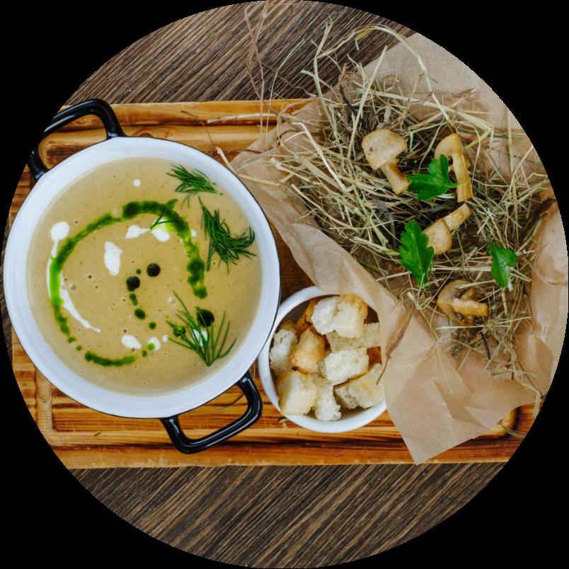 Cream of mushrooms soup