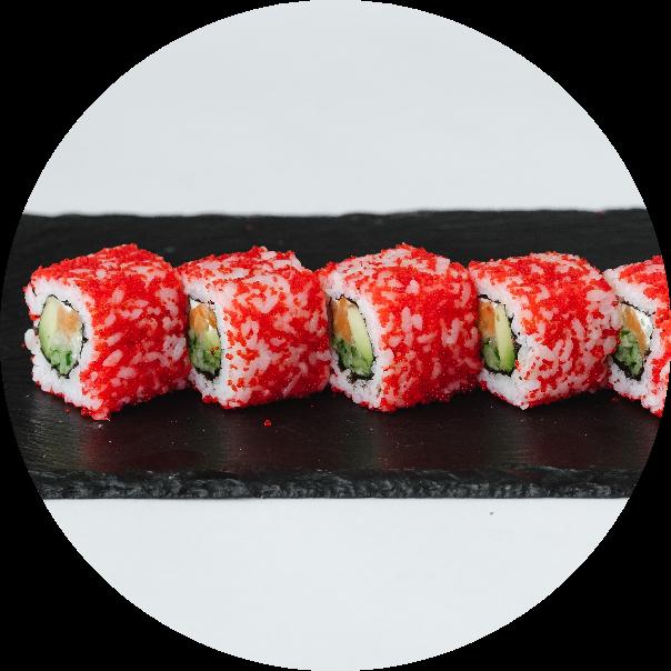California roll with salmon BIG