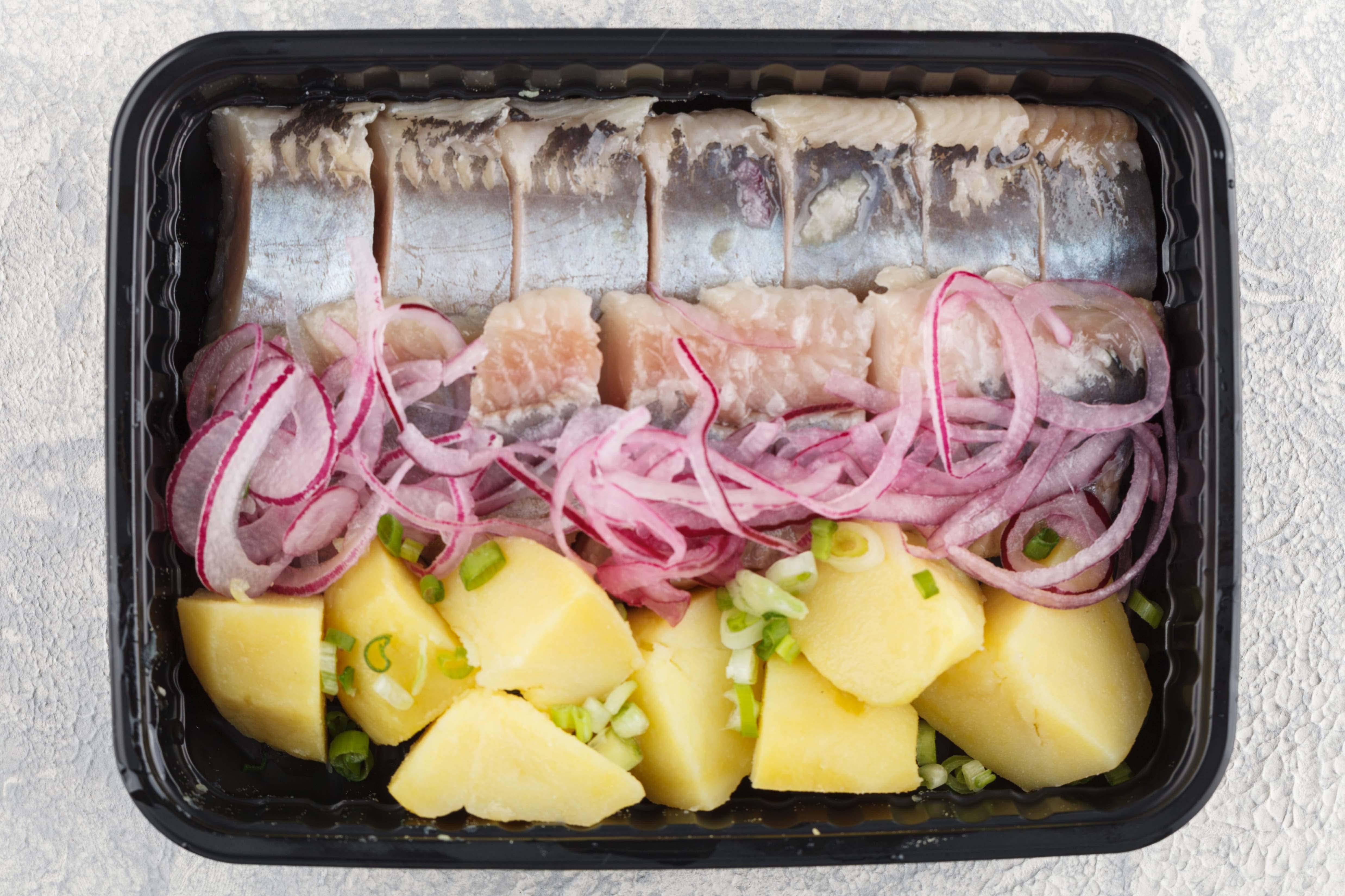 Homemade salted herring