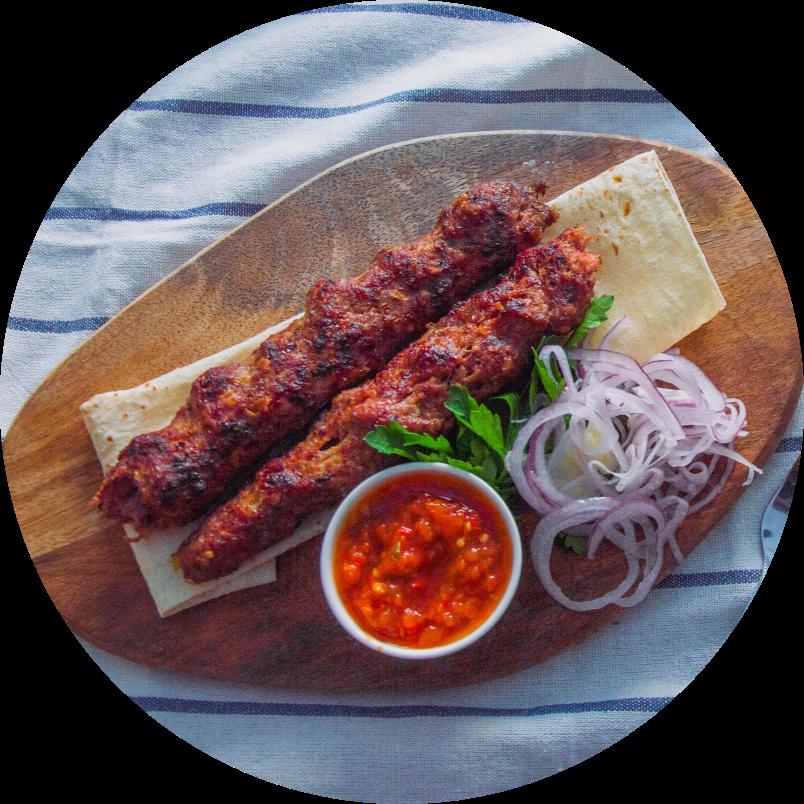 Фирменный люля-кебаб из говядины