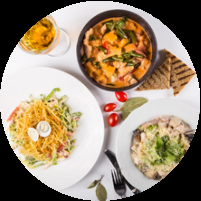 Бизнес-Ланч из 2х блюд (горячее + суп)