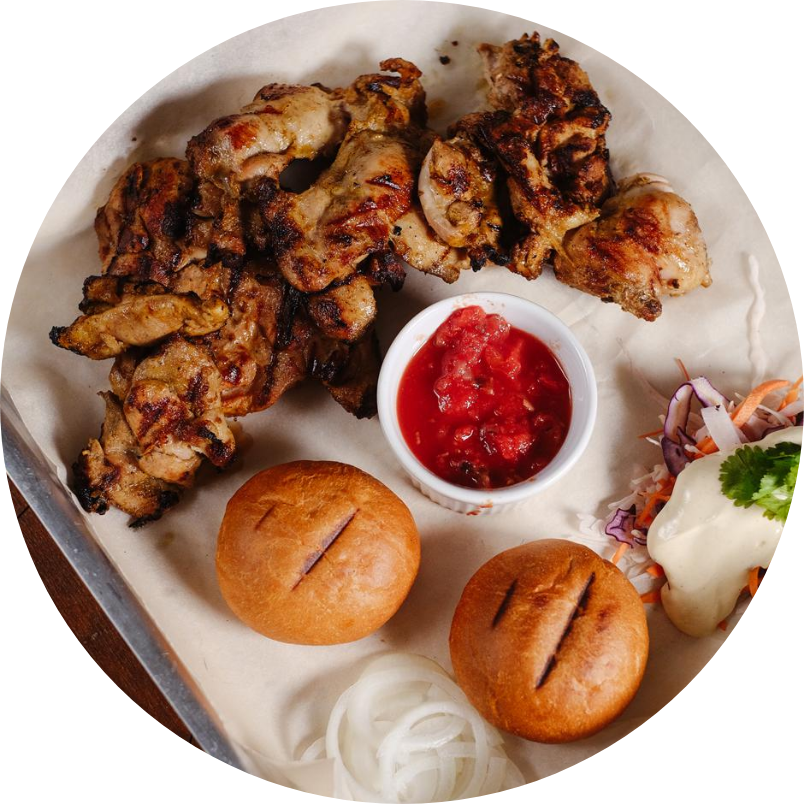 Chicken lula-kebab