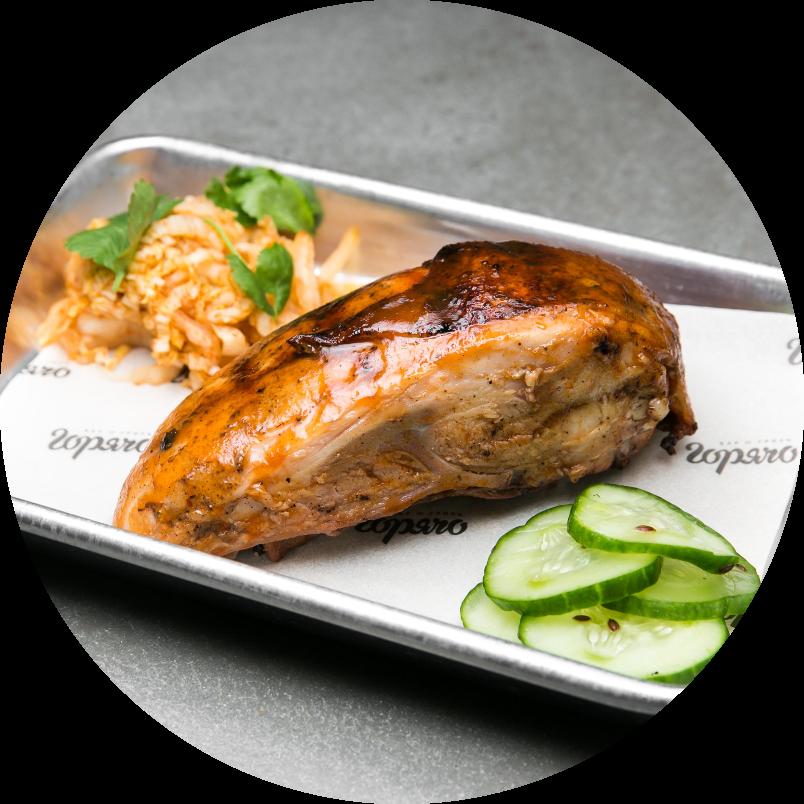 Грудка цыплёнка в персиковом барбекю