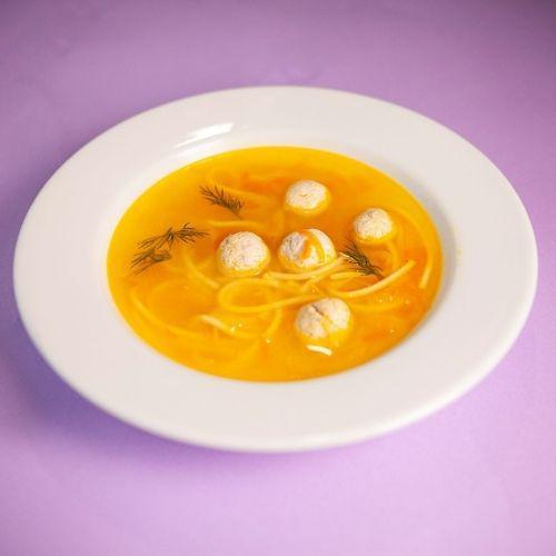 Суп детская лапша с фрикадельками