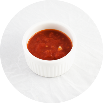 Ripe tomatoes sauce