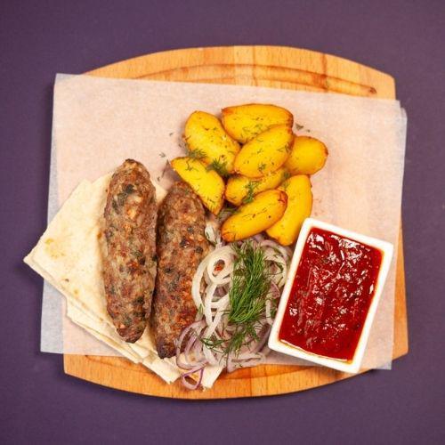Люля-кебаб из свинины-говядины