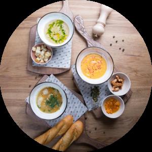 Бизнес-Ланч из 2х блюд (салат + горячее)