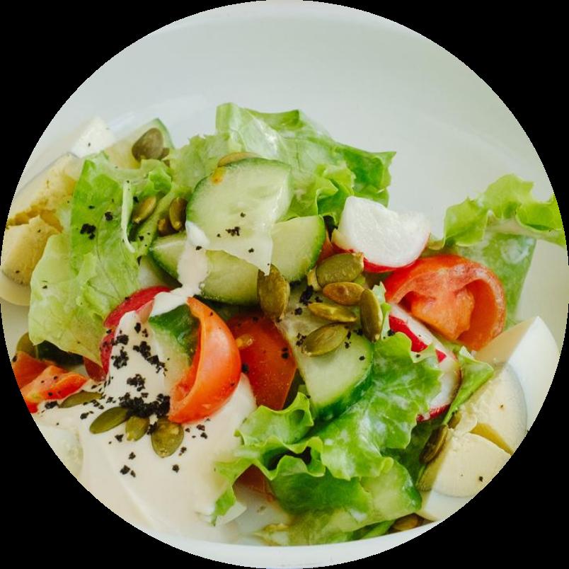 Быстрый салат из овощей