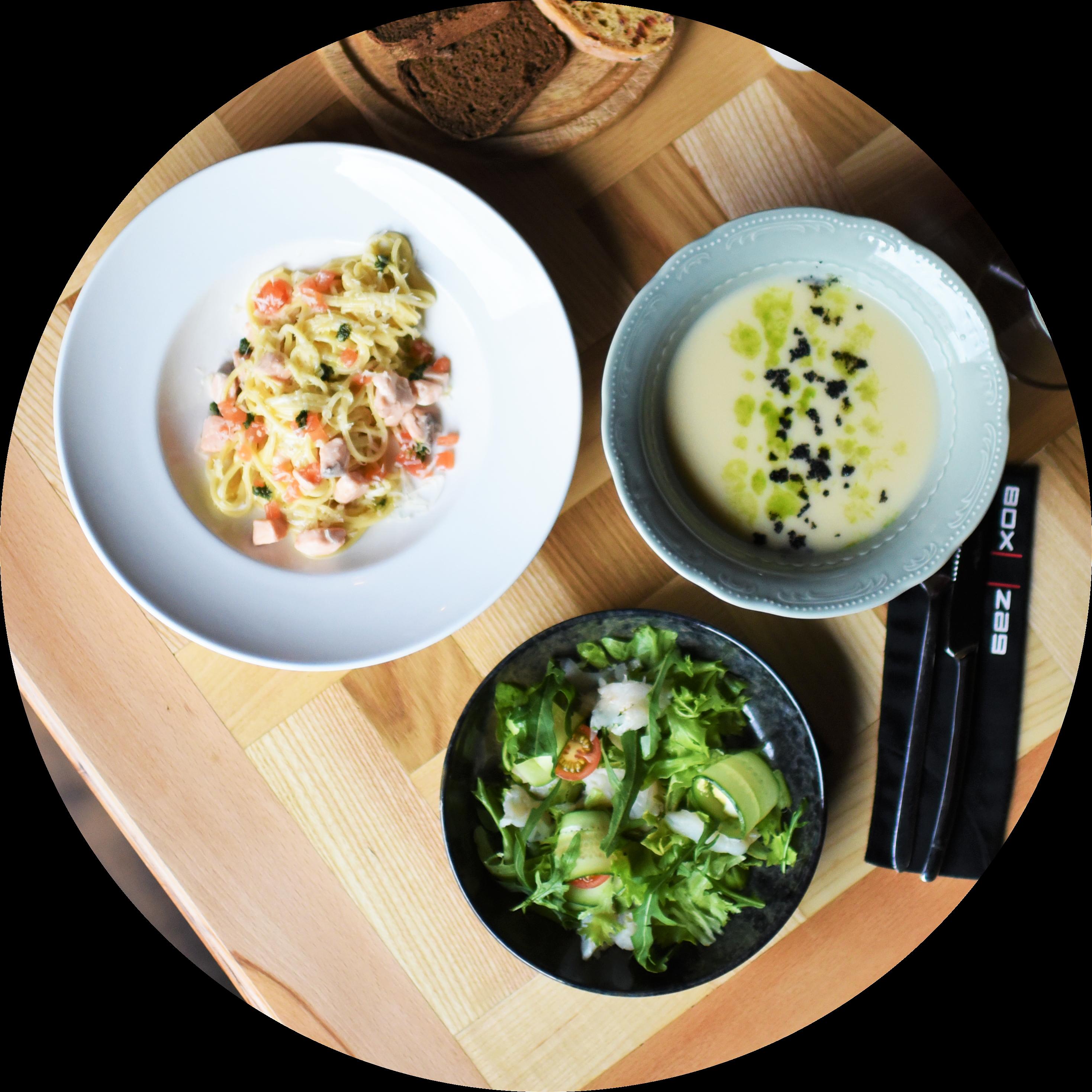 Бизнес-Ланч из 2х блюд (горячее + soup)