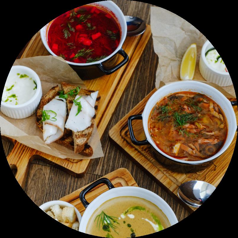Бизнес-Ланч из 2-х Блюд (salad + soup)