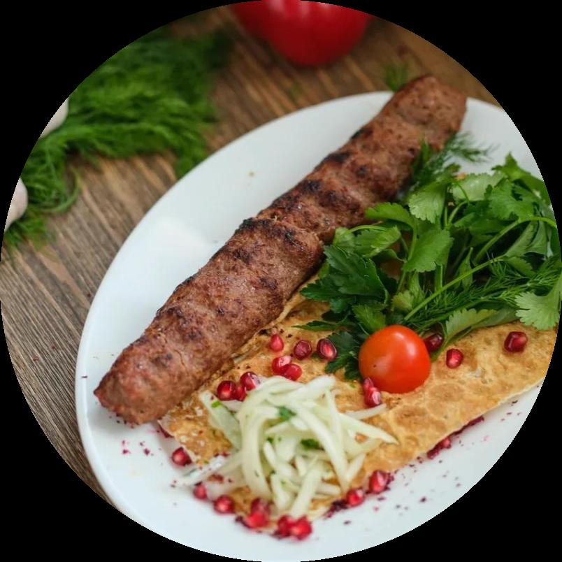 Люля кебаб из говядины и свинины