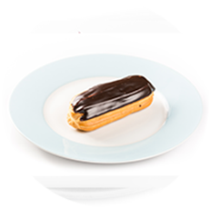 ECLAIR WITH CUSTARD