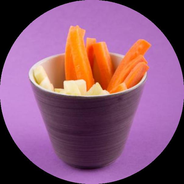 Хрустящие морковные палочки и яблочки