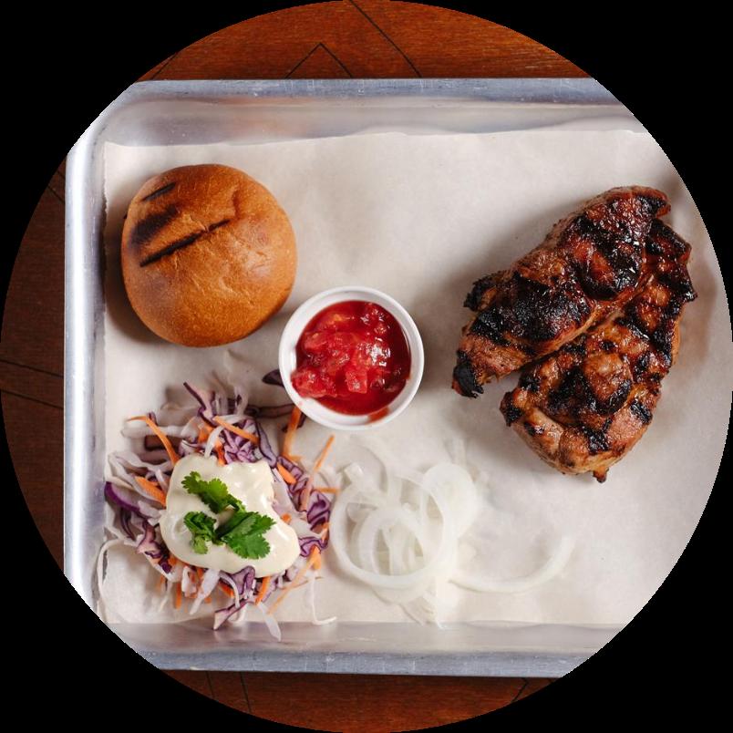Chicken breast shish-kebab