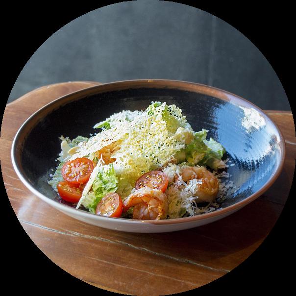 «Caesar» salad with shrimps