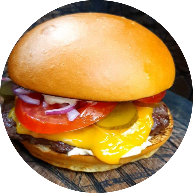 Бургер с куриной котлетой  и соусом  BBQ